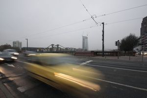EZB Tower in Frankfurt am Main am frühen Morgen