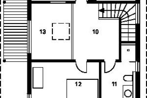 Grundriss Obergeschoss, M 1:175