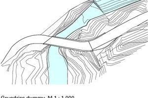 Grundriss Schaufelschluchtbrücke, M 1 : 1000