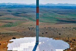 Aufwindtestanlage im spanischen Manzanares