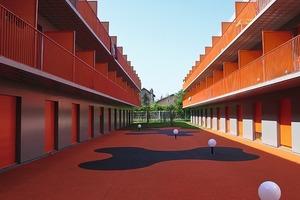 Studentenwohnheim in Epinay-sur-Seine, 2008 besitzt das Haute Qualité Environnementale (HQE)<br />