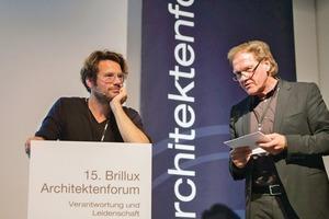 """""""Architekten müssen wieder Lust haben, sich kreativen Fragestellungen zu nähern."""", Prof. Dr. Friedrich von Borries (l.)"""
