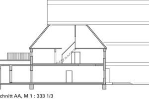 Grundriss Erdgeschoss, M 1:333 <sup>1</sup>/3<br />