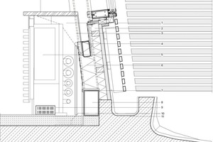 Detail unterer Anschluss Fassadenfenster, M 1:10<br />