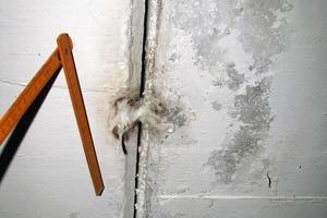 Bild 5: Schadensstelle im Bereich einer Dehnfuge<br />