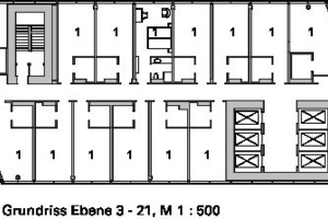 Grundriss Ebene 3-21, M 1:500