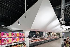 Skulpturale Fleischtheke als Symbol für Qualität und Frische<br />