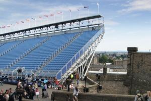 Die Tribühne bietet ca. 8800 Sitzplätze<br />