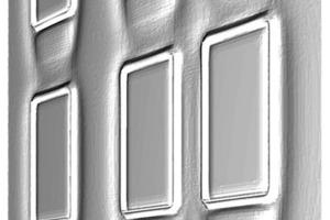 Fassadenausschnitt als 3D-Modellierung
