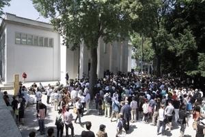 Eröffnung des Pavillons am 6. Juni 2014, 12.00