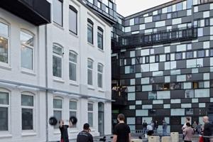 Innenhof mit urbaner Nutzung