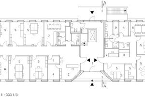 Erdgeschoss, M 1:333 <sup>1</sup>/3