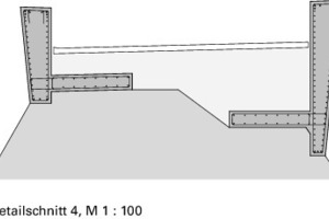 Detailschnitt 4 Schaufelschluchtbrücke, M 1:100