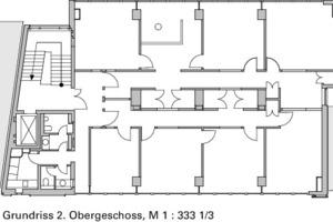 Grundriss 2. Obergeschoss, M 1:333 <sup>1</sup>/3