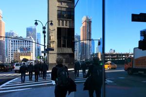 """""""Hudson Yards"""" mit Nachbarschaft, Ecke West 33th Street, 10th Avenue"""