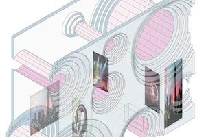 Die Architekten verlängerten die sich verjüngenden Öffnungen zu röhrenförmigen Gehwegen<br />