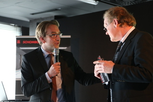 Alexander Weber, Geschäftsführender Gesellschafter der SCHOMBURG-Gruppe (links) und Burkhard Fröhlich, Chefredakteur DBZ