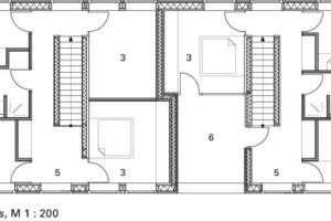 2. Obergeschoss, M 1:200<br />