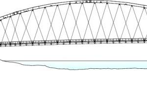 Schnitt AA Osthafenbrücke, M 1:1250