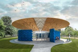 Serpentine Pavilion 2017, Designed by Francis Kéré, Design Render, Exterior