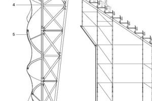 Fassadenschnitt, M 1:200<br />