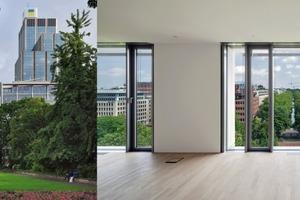 """Das Haus """"köblick"""" von ingenhoven architects ist passive Kante wie auch aktiver Motor für eine anspruchsvolle Quartierentwicklung"""