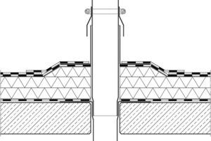 Detail für eine Rohrdurchführung