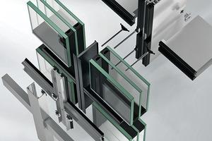 Aufbau einer Schüco Fassadenkonstruktion FWS 35 PD.SI