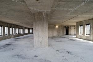Die Bürogeschosse besitzen einen Regelgrundriss und die Ausstattung ist standardisiert<br />