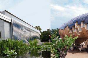 Zwischen Siegerhaus (links: Lumenhaus, Virginia Polytechnic Institute &amp; State University/USA) und Letztplatziertem (FabLab House, Institute for Advanced Architecture of Catalonia/E) gab es jede Variante<br />