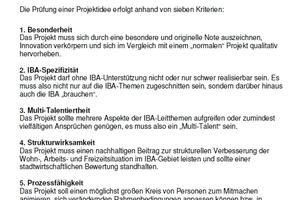 Sieben Exzellenzkriterien für IBA-Hamburg-Projekte