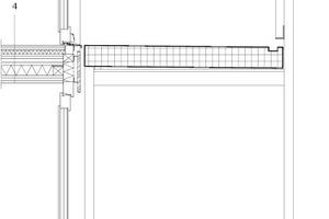Fassadenschnitt, M 1 : 33 <sup>1</sup>/3