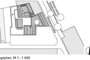 Lageplan, M 1:1000