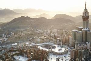 Blick auf Mekka und den neuen Uhrenturm