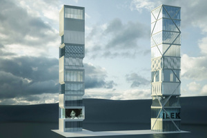 Auf dem Institutsgelände des ILEK der Universität Stuttgart wird ein 10-geschossiges Hochhaus errichtet, mithilfe dessen adaptive Fassaden und Tragwerke auf ihre praktische Anwendbarkeit überprüft werden sollen.