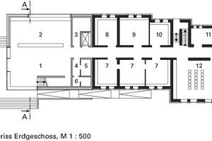Grundrisse Erdgeschoss, M 1:500