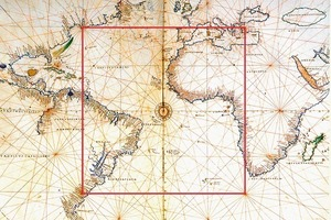 Auf der Basis der Windrosen der antiken Seekarten, wurde eine in sich steife Kuppel entwickelt, bei der alle Unterteile nur auf vertikale Lasten beansprucht werden