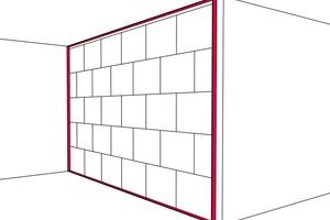 Gips-Massiv-Wände bilden bauakustisch betrachtet eine Einheit aus der Trennwand selbst und ihrem elastischen Anschluss mit Randanschlussstreifen