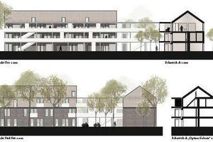 """N2M Architektur & Stadtplanung + fehlig moshfeghi architekten, Hannover: """"Die städtebauliche Einbindung der vier Baukörper fügt sich mit großer Selbstverständlichkeit in die umgebende Bebauung ein."""""""