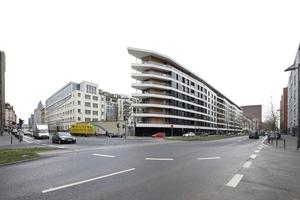 Aktiv-Stadthaus entlang der Frankfurter Speicherstraße