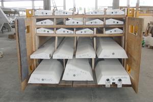 Für den Transport zur Baustelle wurden für den LKW Stapelgestelle gefertigt