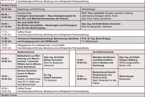 Programm Wienerberger Mauerwerkstage 2014