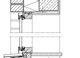 Detail Fensteranschluss, vertikal, M 1:15