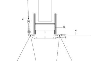 Anschlussdetail Low-E Membrane an Hauptbinder, M 1:25<br />