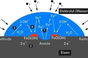 Bild9: Vorgänge bei der elektrochemischen Korrosion