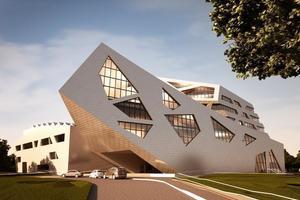 Das neue Zentralgebäude der Leuphana Universität Lüneburg, Entwurf Daniel Libeskind