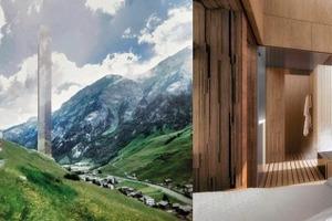Beeindruckend hoch: Hotelvision im Schweizer Vals, made bei Morphosis
