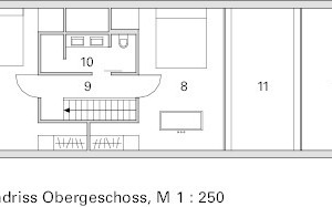 Grundriss 1. Obergeschoss, M 1:250