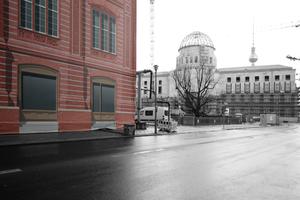 Attrappenlandschaft Berlin-Mitte. Man möchte hoffen, sie funktionierten wenigstens!