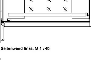 """<div class=""""9.6 Bildunterschrift"""">Schnitt und Deckenansicht Aufzugkabine, M 1:40</div>"""